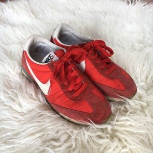 Nike Red Retro Suede Gum Sole Running Shoes 6.5